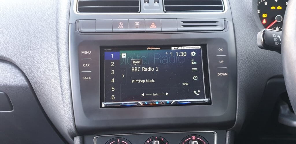 VW Polo radio upgrade