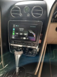 Spotify on Apple CarPlay in Bentley