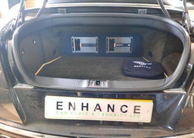 Bentley GTC Custom amp installation