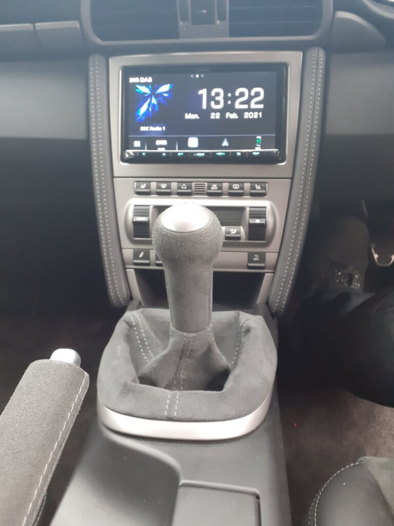 Kenwood Apple CarPlay radio in Porsche