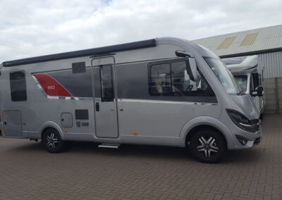 Silver motorhome with auto watch cat 1 alarm installation