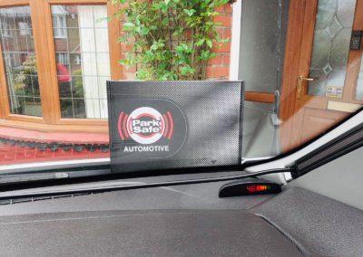 Rear parking sensor display in Motorhome