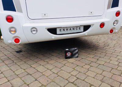 Rear parking sensors on Motorhome