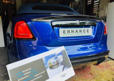 Rolls Royce Dawn installed with Blu eye