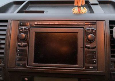 VW T5 radio before upgrade