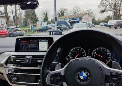 BMW X5 front Blackvue witness camera